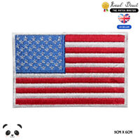 USA National Flag Embroidered Iron On Sew On PatchBadge For Clothes