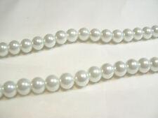 100+ PC X de cristal de perla redonda con cuentas de 8 mm: #74A Blanco