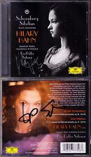 Hilary Hahn & Esa-Pekka Salonen firmato Sibelius Schoenberg Violin Concerto CD