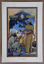 Maxfield Parrish Lamp Seller Of Bagdad Vintage Original Portal Publication Print