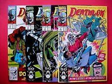 MARVEL COMICS DEATHLOK 1991 The Souls of Cyber Folk 4 Book Set