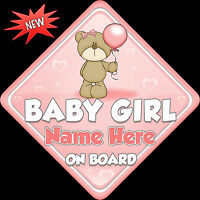 Our Nieces Car Sign Like Baby//Child On Board pink//gold