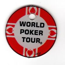 WORLD POKER TOUR Red CHIP Pinball Promo Plastic Key Chain FOB WPT