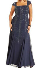 Adrianna Papell New Plus Size Embellished Chiffon Evening Gown Size 16W #HN 269