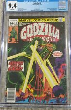 Godzilla 2 CGC 9.4 Marvel 1977 King of the Monsters WHITE PAGES