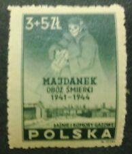 POLAND STAMPS MNH Fi403 ScB45 Mi436 - Concetration camp Majdanek, 1946, clean