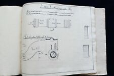 1818 Military Engineer Manuscript Book Drawings Cannons Artillery. Sweden