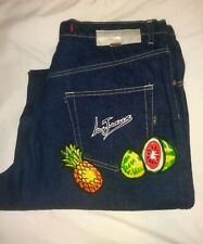 VTG Iceberg History Ice Jeans Mens 36 Made in Italy Tropical Fruit EUC Baggy 90s