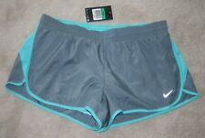 Women's Nwt Nike Dry-Fit 2 In 1 Twisted Tempo Gray & Aqua Running Shorts Size Xl