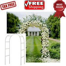 """Metal Arch Wedding Garden Bridal Party Decoration Lightweight Arbor White 57x94"""""""