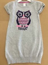 Gymboree Gray Fairy Tale Owl Sweater Dress SIZE 8 Sequins EUC EXCELLENT