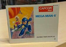Mega Man 4 (Nintendo NES) MANUAL ONLY! Rare!