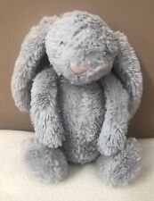 Jellycat Small Bashful Silver Grey Bunny Rabbit Soft Toy Comforter Baby Soother