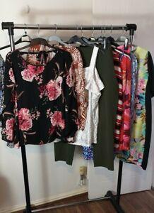 Womens Ladies Clothes Bundle Size 20 Midi Dress Blouse Skirt Shirt Top Pants X3