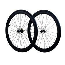 Fixie Flip-Flop Track 700c x45 mm Deep F&R Wheel Set w Tire & Tube Black Matte