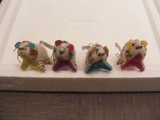 """NWT Crate & Barrel 4"""" Polar Bear with colored belly Christmas Ornament/India"""