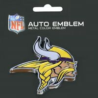 Minnesota Vikings Heavy Duty Metal 3-D Color Auto Emblem