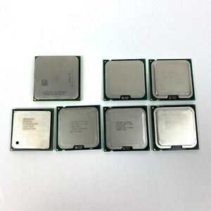 Lot of 7 Intel and AMD CPU Processors