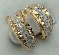 Delicate Vintage Original Rose Gold Earrings 585 14KT , Solid Gold 14KT