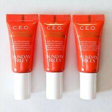 LOT/3 SUNDAY RILEY CEO 15% Vitamin C Brightening SERUM Travel .17oz/5ml Each
