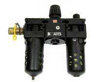 "Watts Fluidair QUBE C75 105 Series Lubricator Filter Regulator 1/2"" NPT 300 psi"