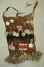 African goatskin beaded adornment-small cache-sexe or breastplate. App... Lot 51