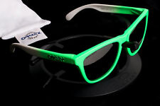 Oakley Frogskins Neon Green & White Sunglasses Prizm Polarized Lenses - 9013-99
