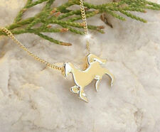 HORSE & WESTERN JEWELLERY  LADIES WOMENS PRANCING  HORSE NECKLACE GOLD