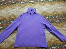 Charter Club 2-ply Cashmere Turtleneck Sweater SZ XLARGE Light purple