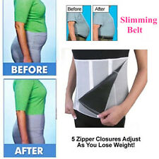5-Zipper Adjustable Waist Trainer Control Body Shaper Weight Loss Slimming Belt