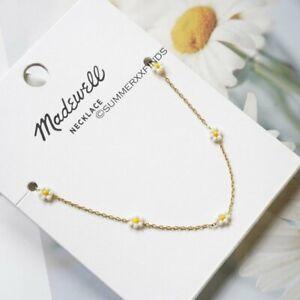 Madewell Seed Bead Daisy Chain Necklace NWT