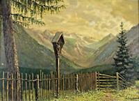 Heinrich WEGENER XX - Marterl im Gebirge