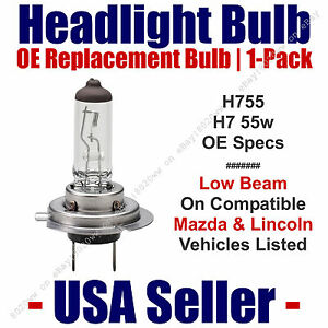 Headlight Bulb Low Beam OE Replacement 1pk For Select Mazda & Lincoln - H7 55