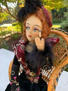 FABULOUS CLOTH GERLING BOUDOIR - BED DOLL - 30 inches