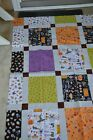 """Halloween sewn quilt top 46"""" x 57 1/2"""", ready for finishing!- New fabric"""