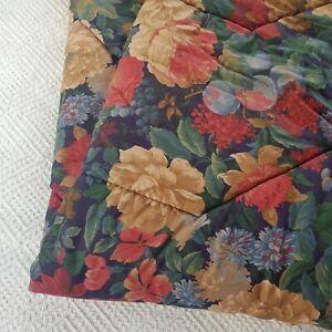 Vintage Retro Navy Flower Floral Polywarm Sleeping Bag Camper Camping 70s 80s