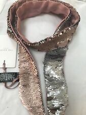 Stunning Ted Baker London Women's Sequin Velvet Thin Skinny Scarf