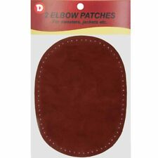 2 Natural Suede Leather Sew-On Elbow Repair Patches 4.5 x 5.5 in - Maroon