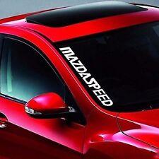 MAZDASPEED Logo Silver White Car Auto SUV Sticker Decal Universal for Mazda