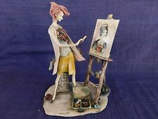"Vintage Lo Scricciolo THE ARTIST by A. Colombo -SIGNED - Large 11"" tall"