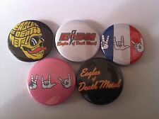 5 Eagles of Death Metal Pin Button badges 25mm Heart On Death by Sexy Peace Love