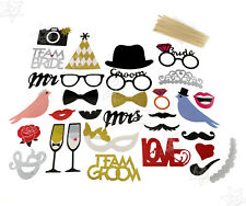 31X Photo Booth Props Board Wedding/Hen Do Party/Stag Night Game Tool Full Set