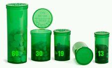 (100) 13 Dram Squeeze Pop Top Prescription Container Pill Bottle Tubes Rx Vials