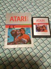 E.T. The Extra-Terrestrial (Atari 2600, 1982) with original manual