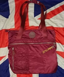 Mint*Cherry Red Dr Doc Martens Flight Tote Bag Backpack*Grunge Punk Goth Quirky