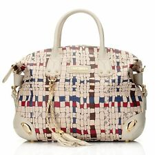(New) Piero Guidi Coated Canvas Intreccio Art Collection Satchel w/ R Strap