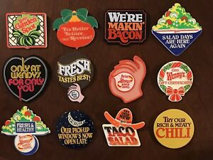 Wendy's Vintage Early 1980's Employee Advertising Pins Pin - Lot Of 12