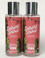 2 Victoria's Secret Pink DESERT SNOW Wildflower Fragrance Mist Body Spray