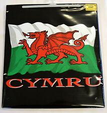 WELSH FLAG / CYMRU design  BLACK TEE SHIRT, Small adult,  Wales/ Cymru