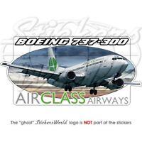 BOEING 737 300 AirClass Airways Vinyl Aufkleber Sticker